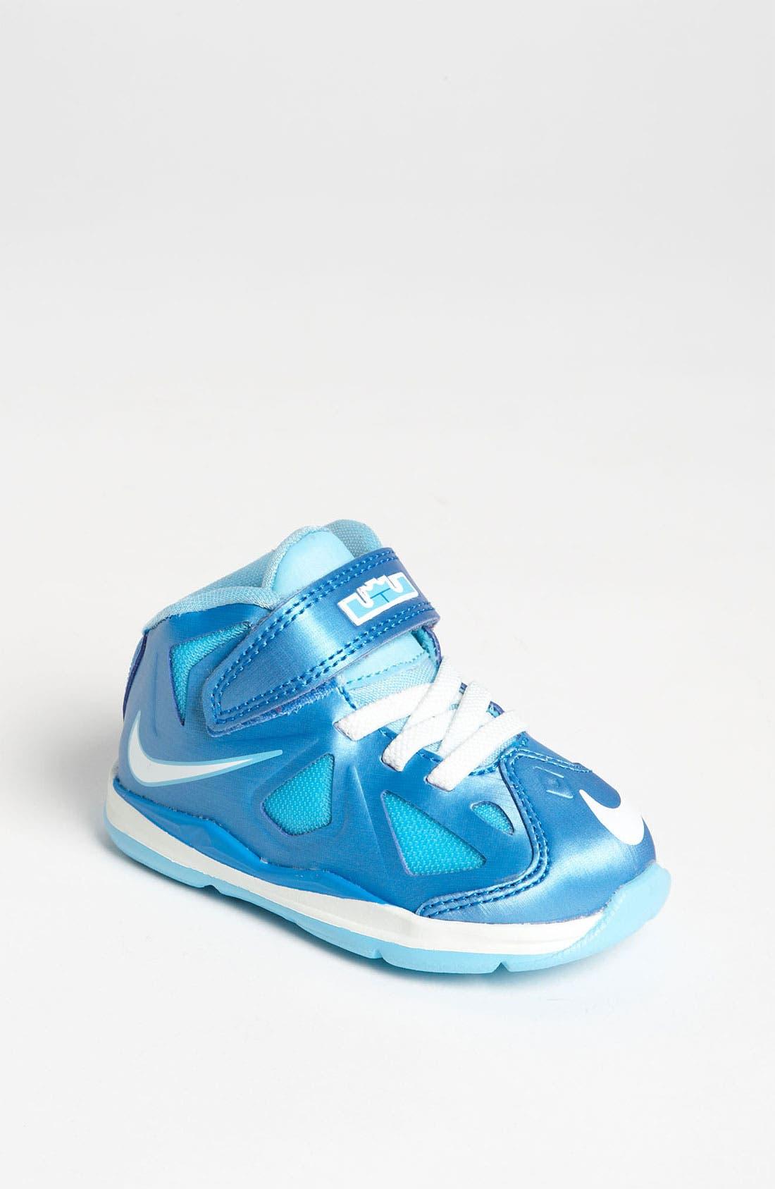 Alternate Image 1 Selected - Nike 'LeBron 10' Basketball Shoe (Baby, Walker & Toddler)