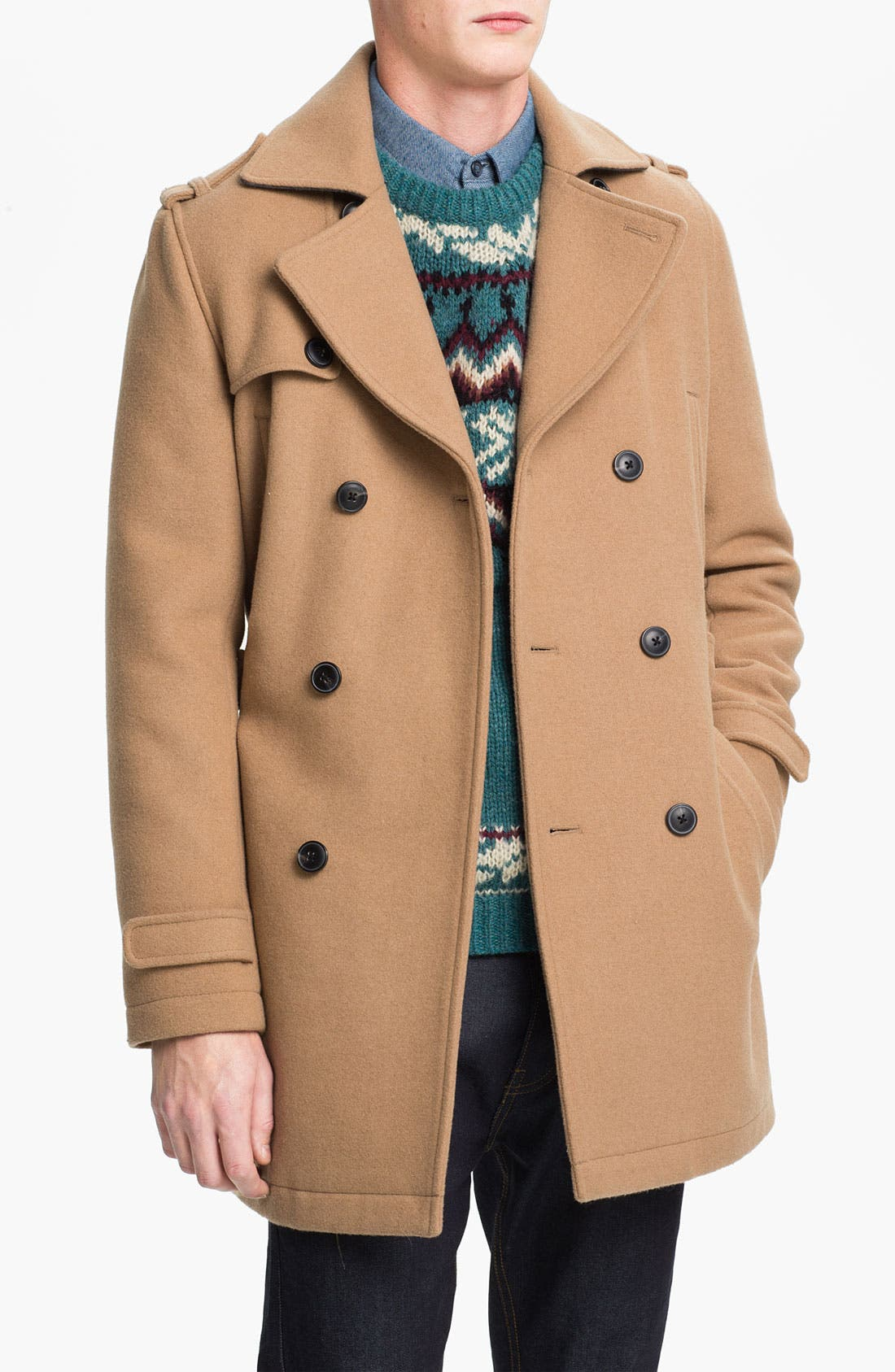 Alternate Image 1 Selected - Topman Double Breasted Trench Coat