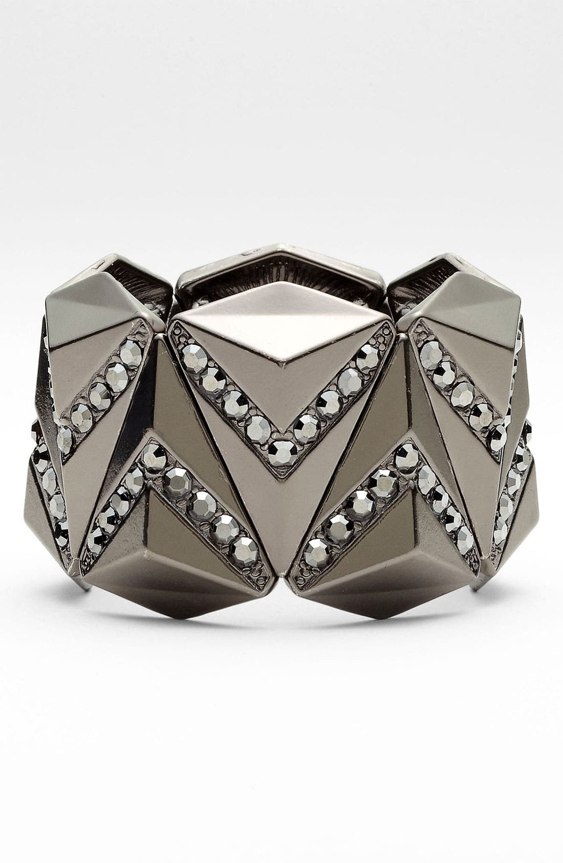 Alternate Image 1 Selected - Natasha Couture Crystal Triangle Bracelet