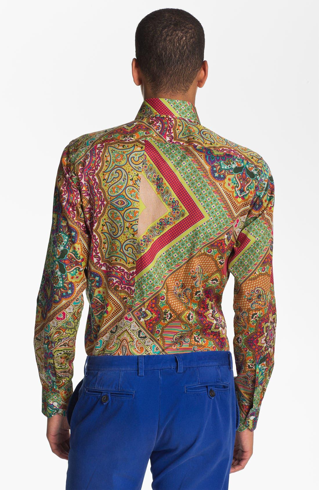 Alternate Image 2  - Etro Patchwork Woven Shirt