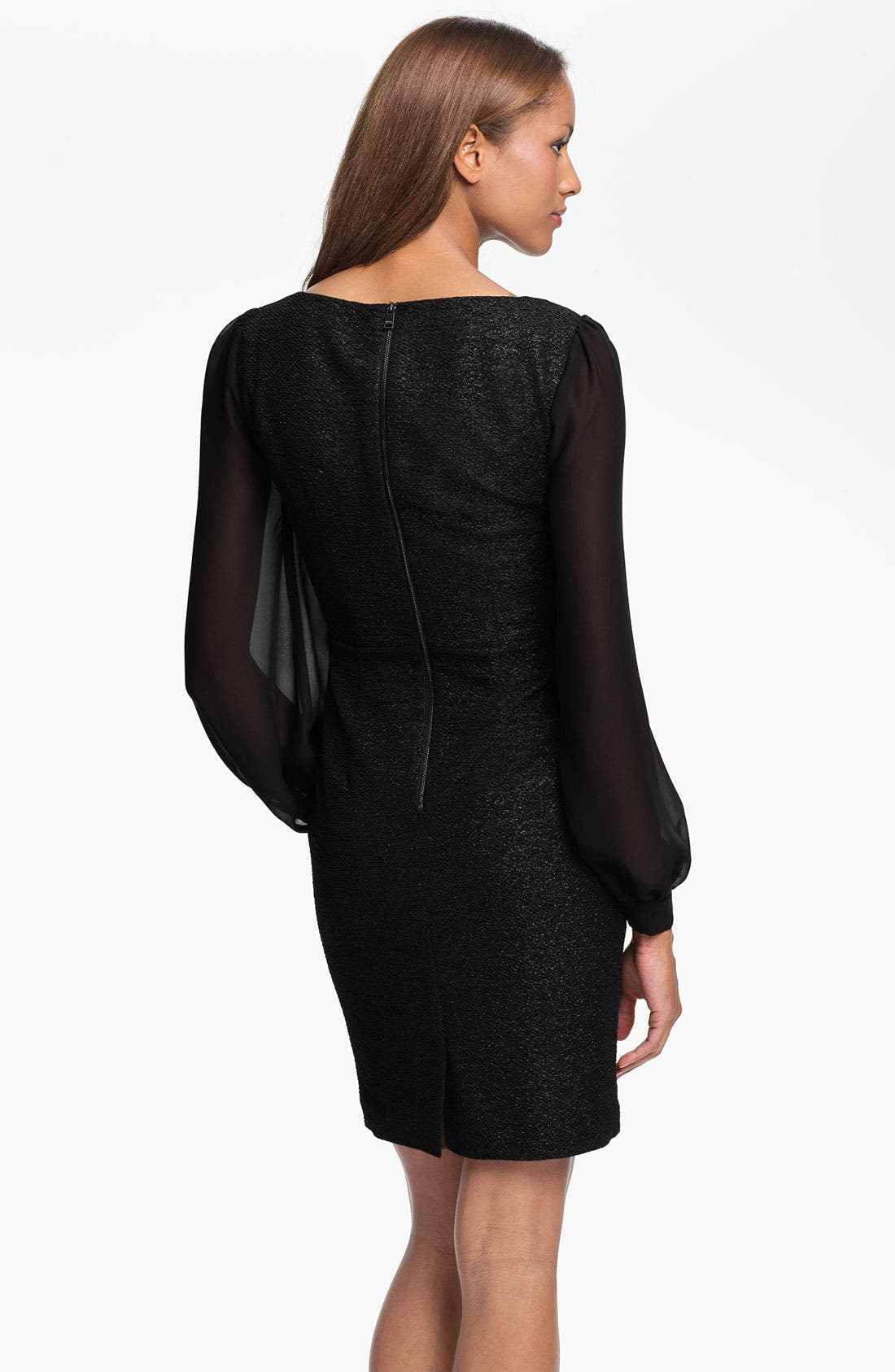 Alternate Image 2  - Marc New York by Andrew Marc Illusion Sleeve Shimmer Sheath Dress