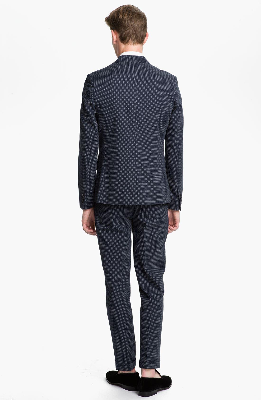 Alternate Image 5  - Topman Pin Dot Skinny Fit Trousers