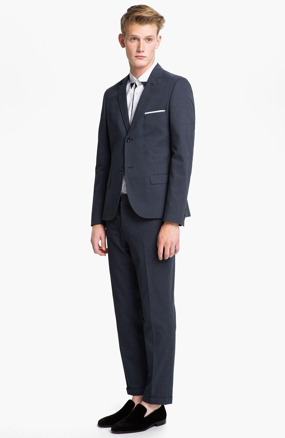 Alternate Image 4  - Topman Pin Dot Skinny Fit Trousers