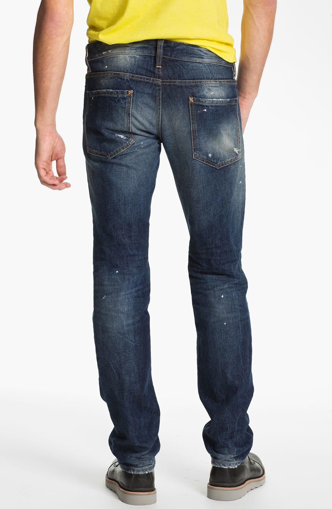 Alternate Image 2  - Dsquared2 Slim Fit Jeans (Distressed Blue)