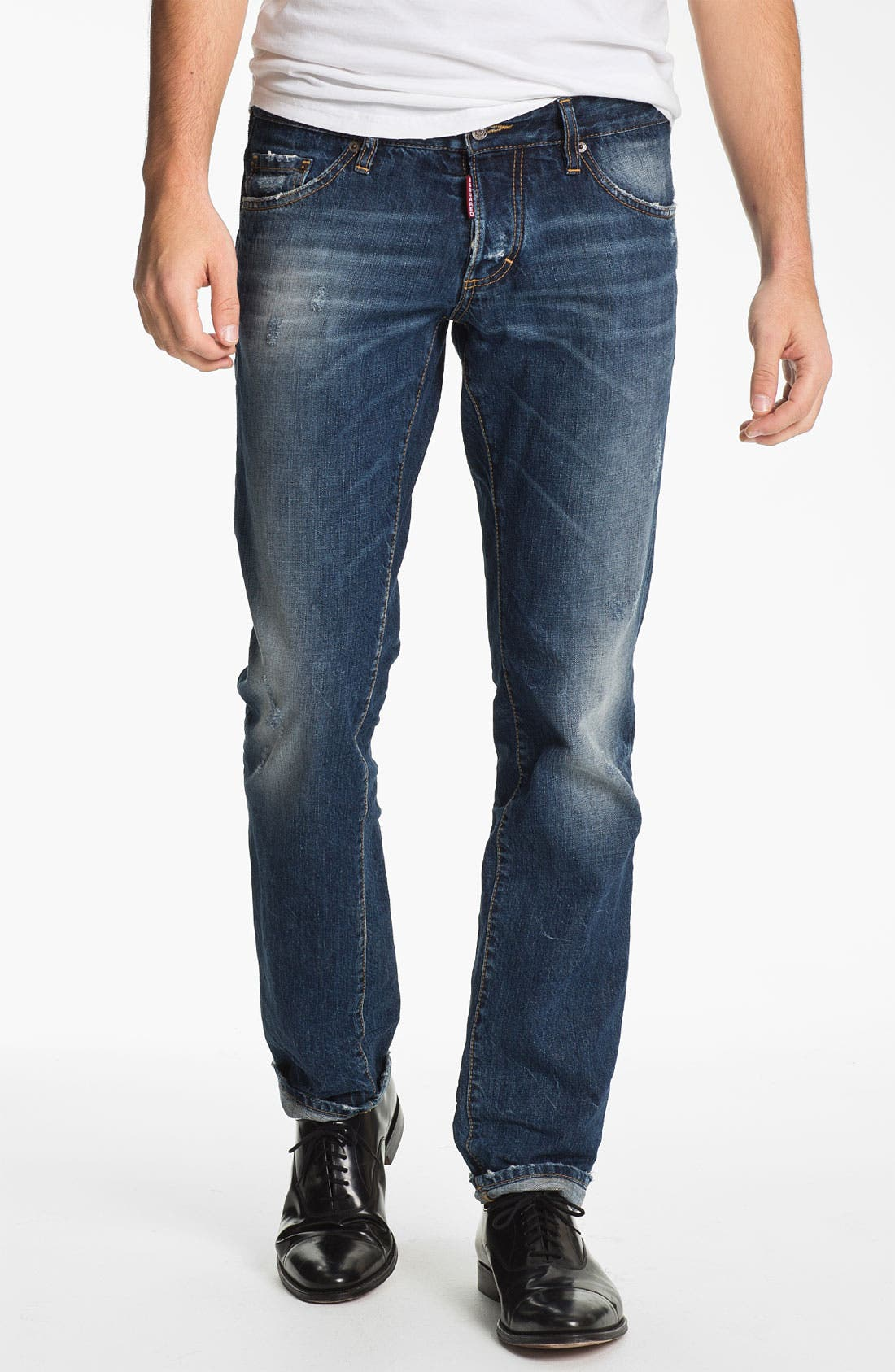 Main Image - Dsquared2 Slim Fit Jeans (Blue)