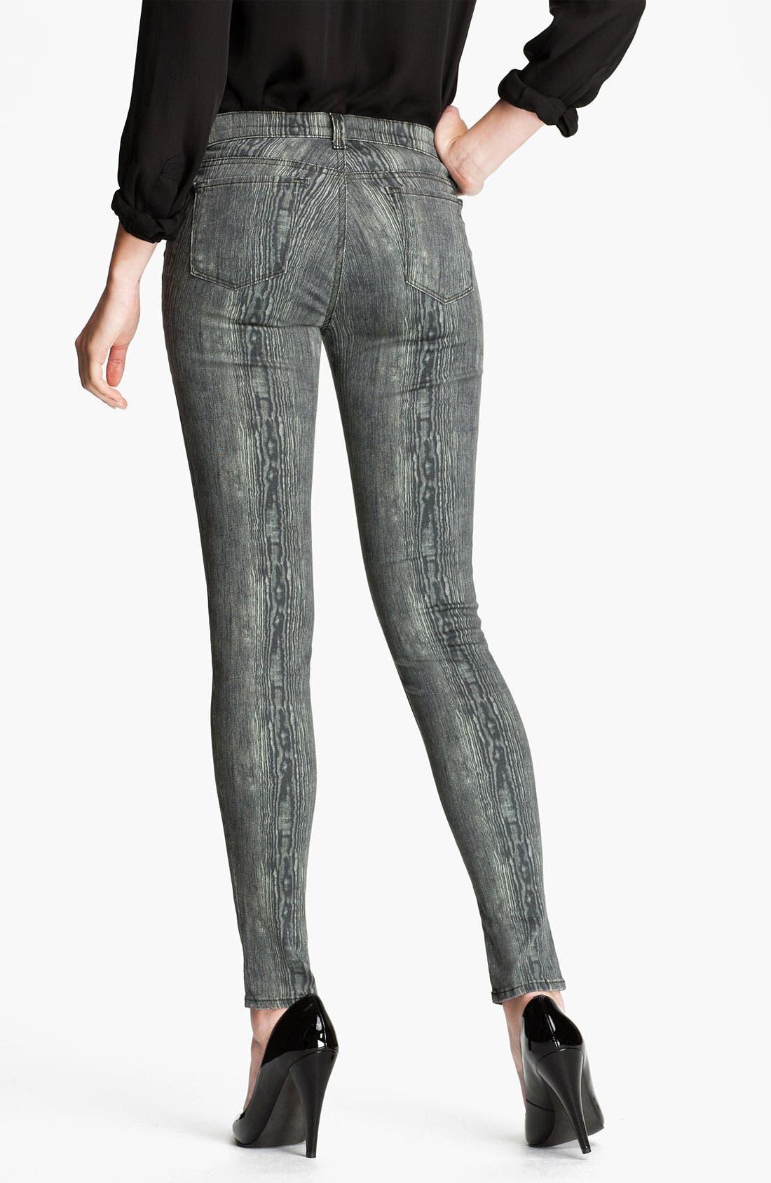 Alternate Image 2  - J Brand Print Denim Leggings (Woodgrain)