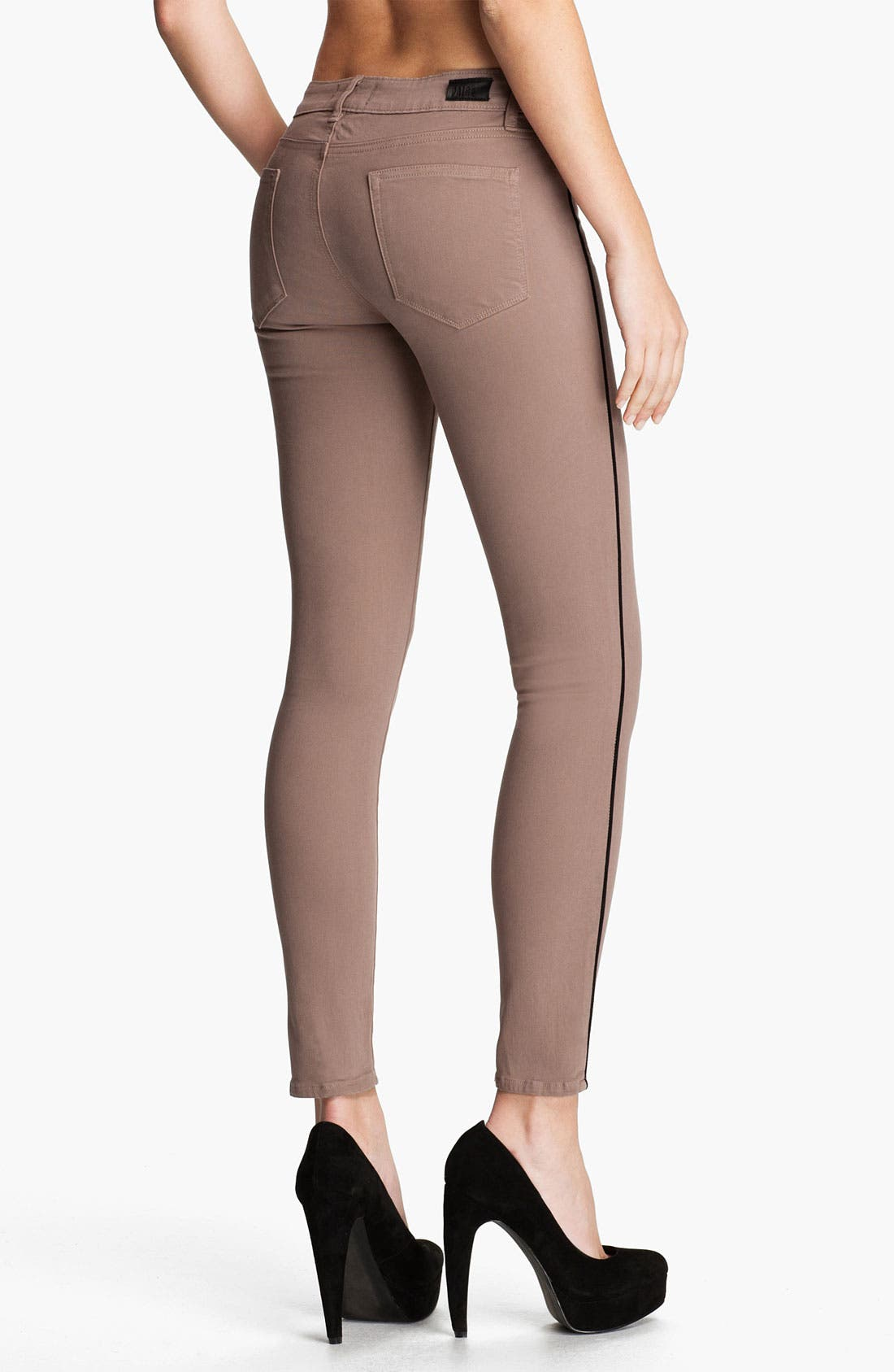 Alternate Image 2  - Paige Denim 'Pipeline' Skinny Stretch Denim Jeans (Chai/Black)