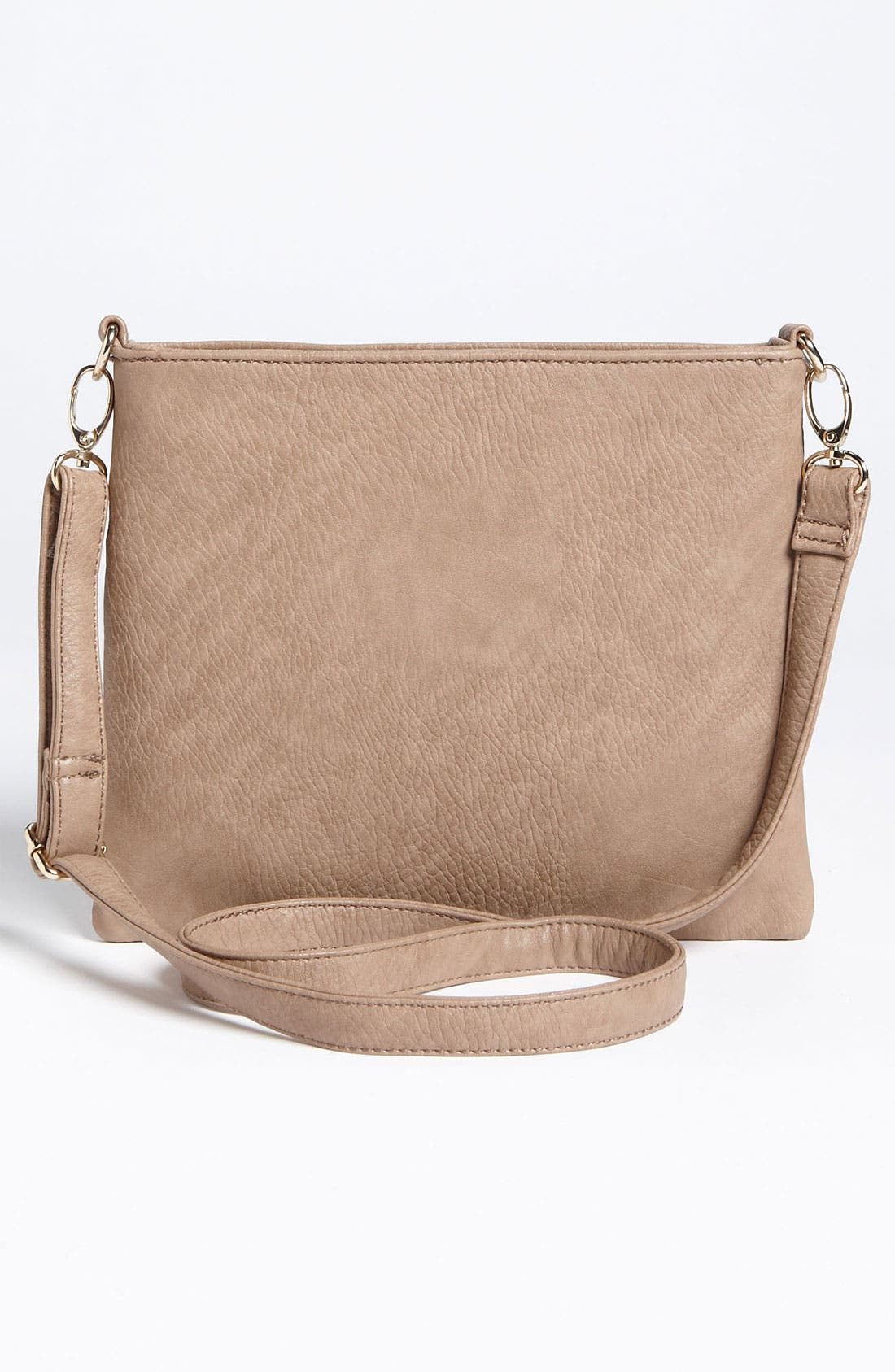 Studded Convertible Crossbody Bag,                             Alternate thumbnail 4, color,                             Taupe/ Gold
