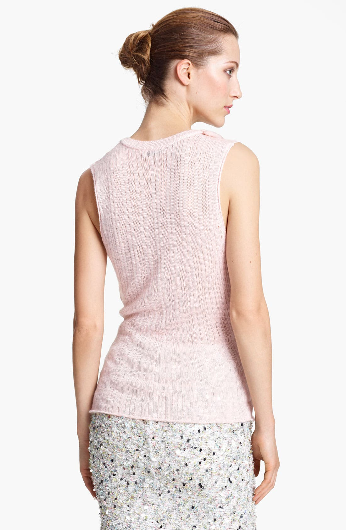 Alternate Image 2  - Nina Ricci Mousseline Strip Knit Top