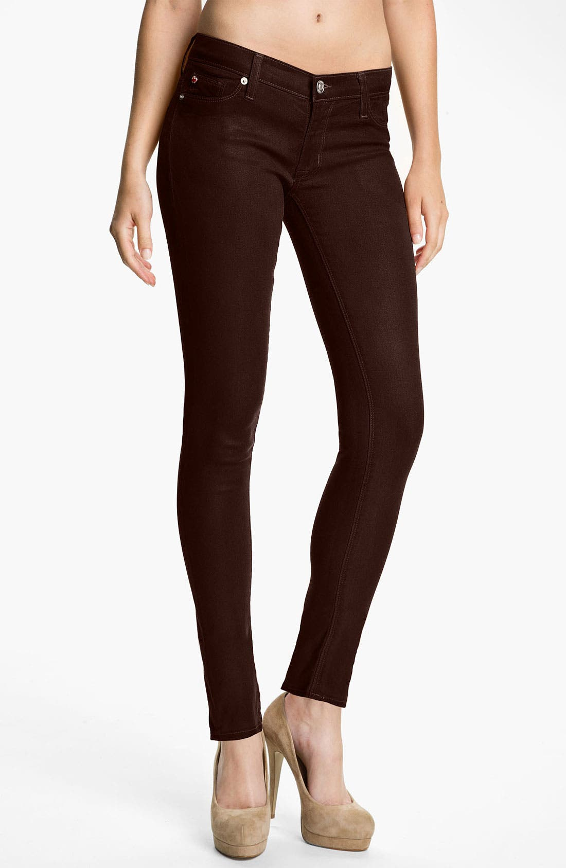 Alternate Image 1 Selected - Hudson Jeans 'Krista' Super Skinny Jeans (Stout Wax)