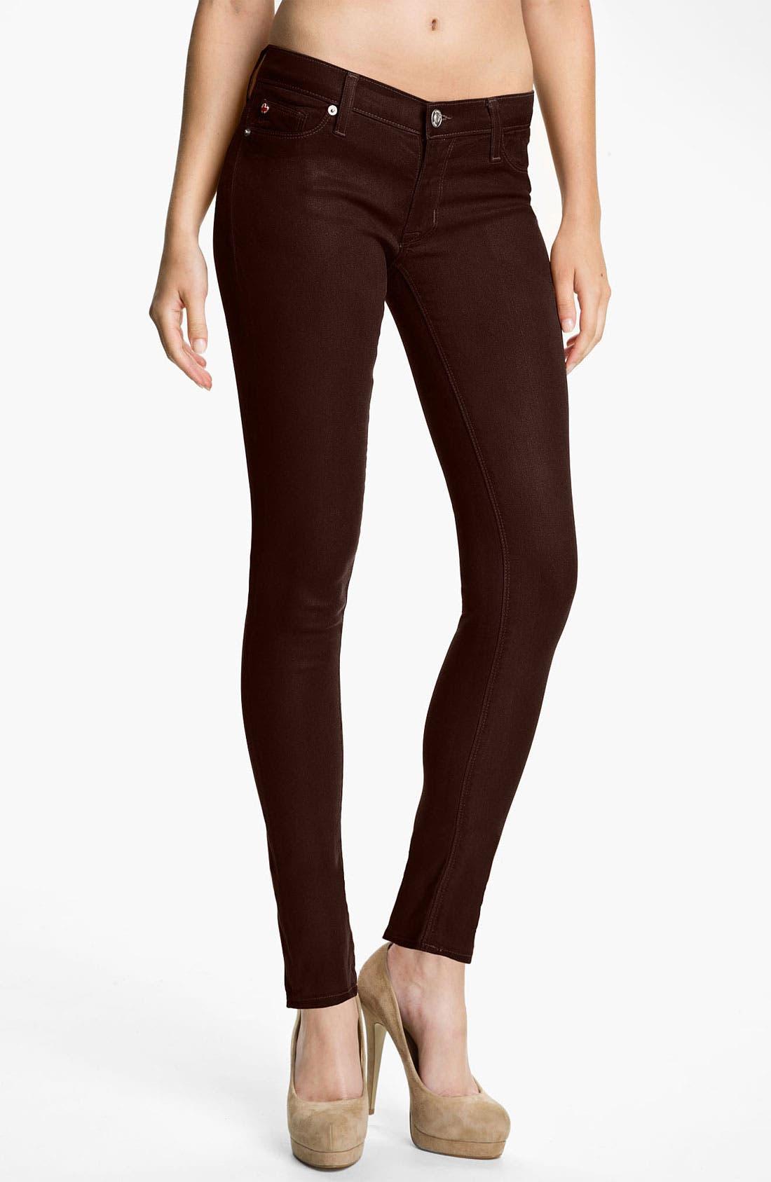 Main Image - Hudson Jeans 'Krista' Super Skinny Jeans (Stout Wax)