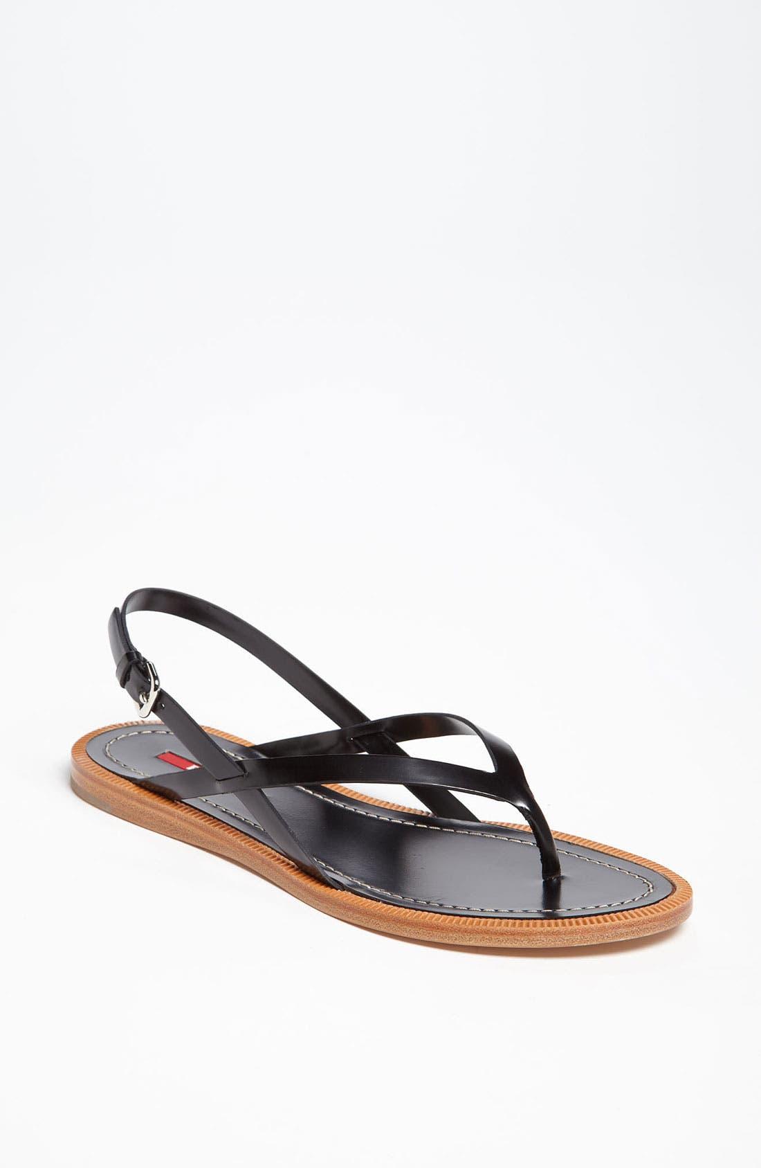 Alternate Image 1 Selected - Prada Flat Sandal