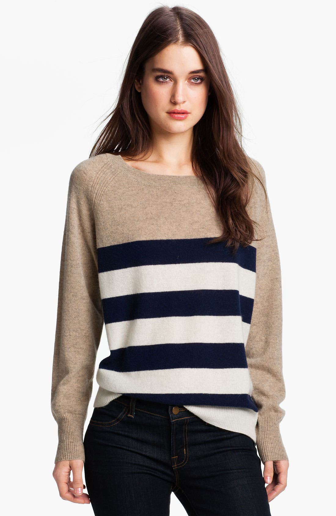 Alternate Image 1 Selected - Joie 'Shirin' Stripe Cashmere Sweater