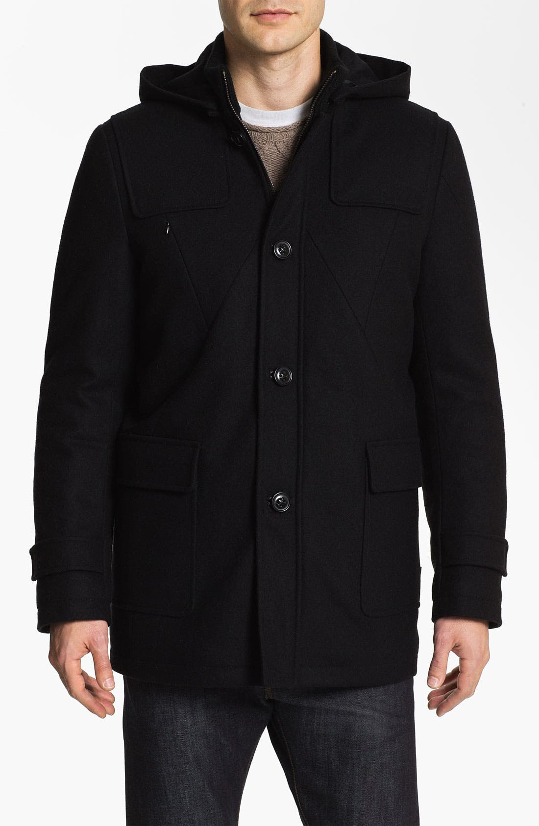 Alternate Image 1 Selected - Vince Camuto Wool & Cashmere Blend Duffle Jacket
