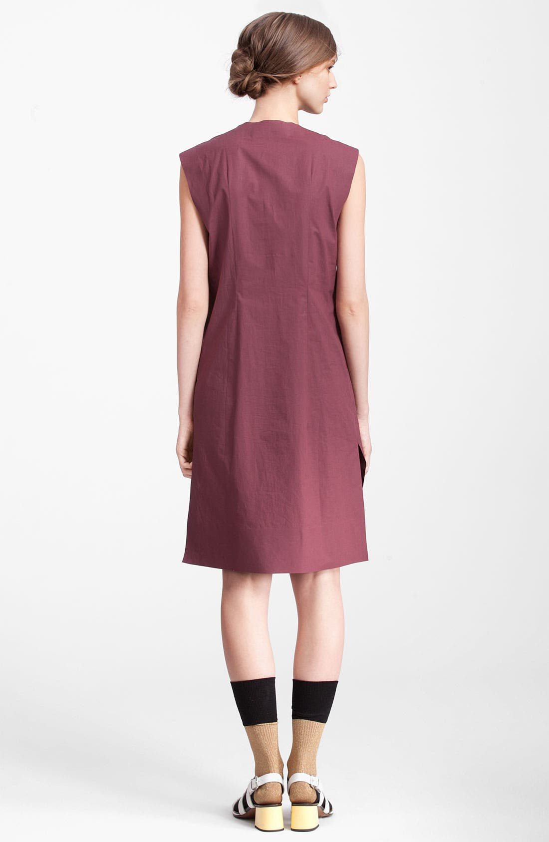 Alternate Image 2  - Marni Edition Sleeveless Poplin Dress