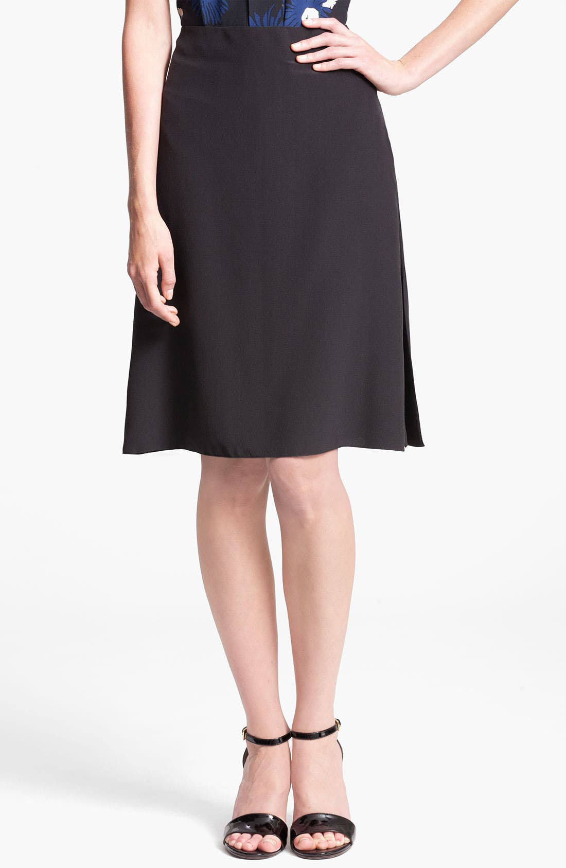 Main Image - Marni Flare Detail Silk Skirt