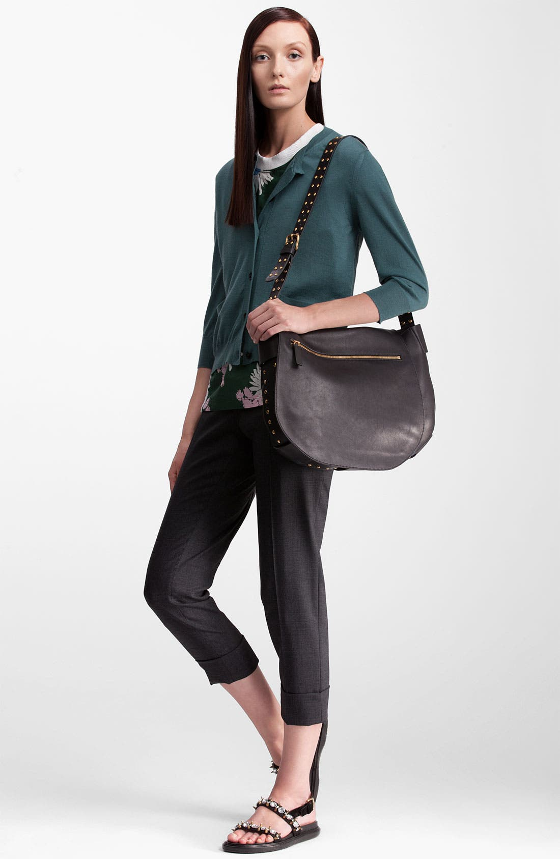 Alternate Image 5  - Marni Pocket Cashmere & Silk Cardigan