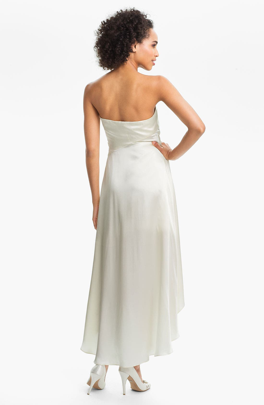 Alternate Image 2  - Alexia Admor Strapless Silk Charmeuse Dress