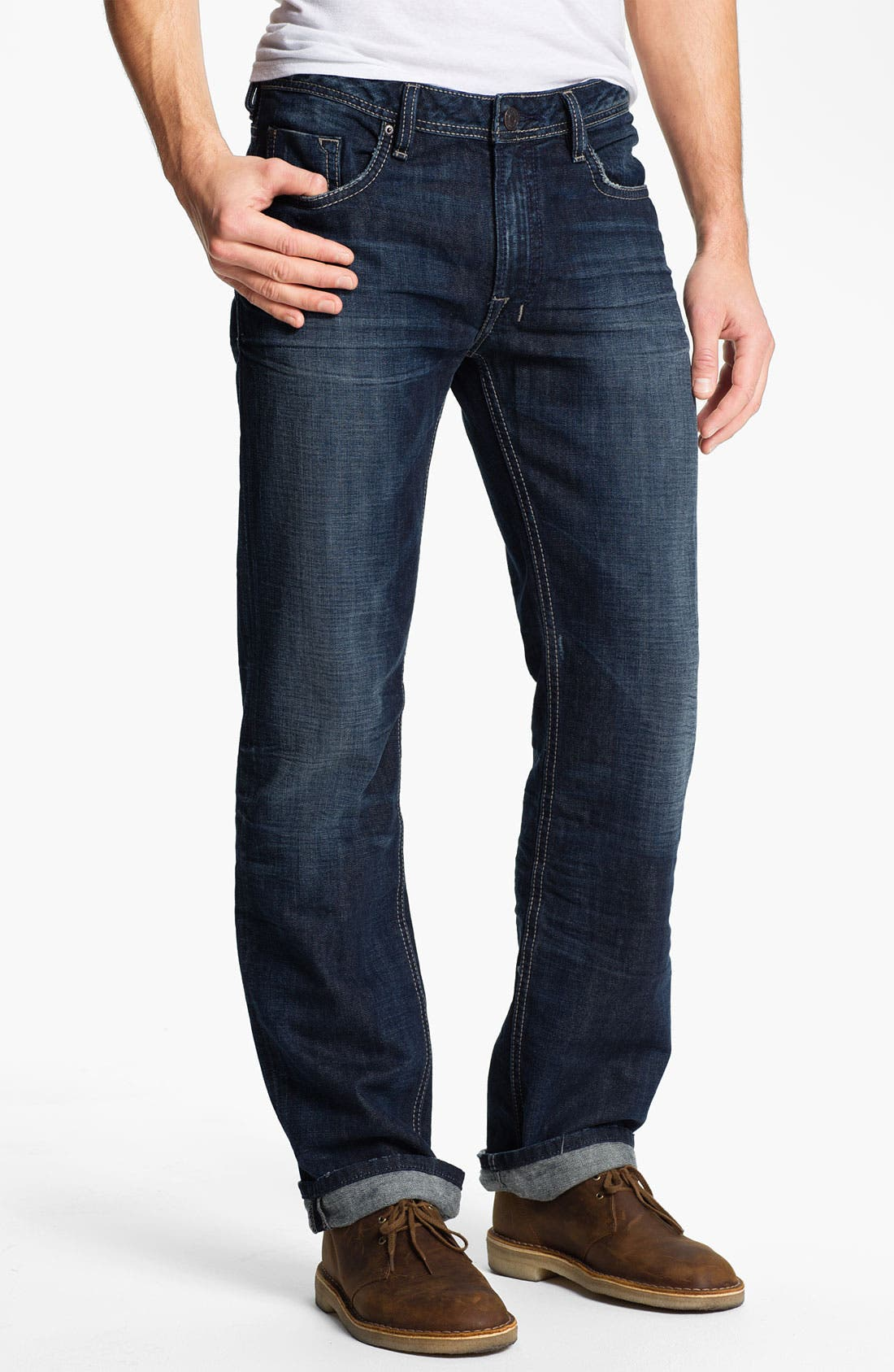 Alternate Image 1 Selected - Buffalo Jeans 'Driven' Straight Leg Jeans (Slightly Sandblasted)
