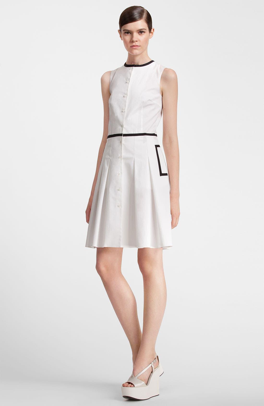 Alternate Image 4  - Jil Sander Navy Black Trim Stretch Cotton Dress