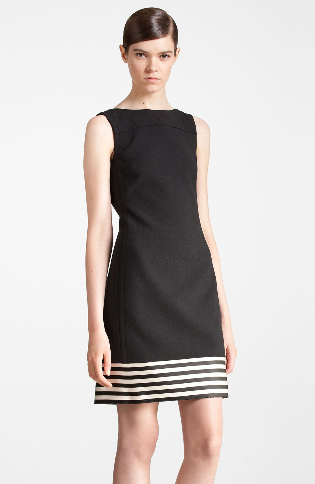 Main Image - Jil Sander Navy Stripe Hem Dress