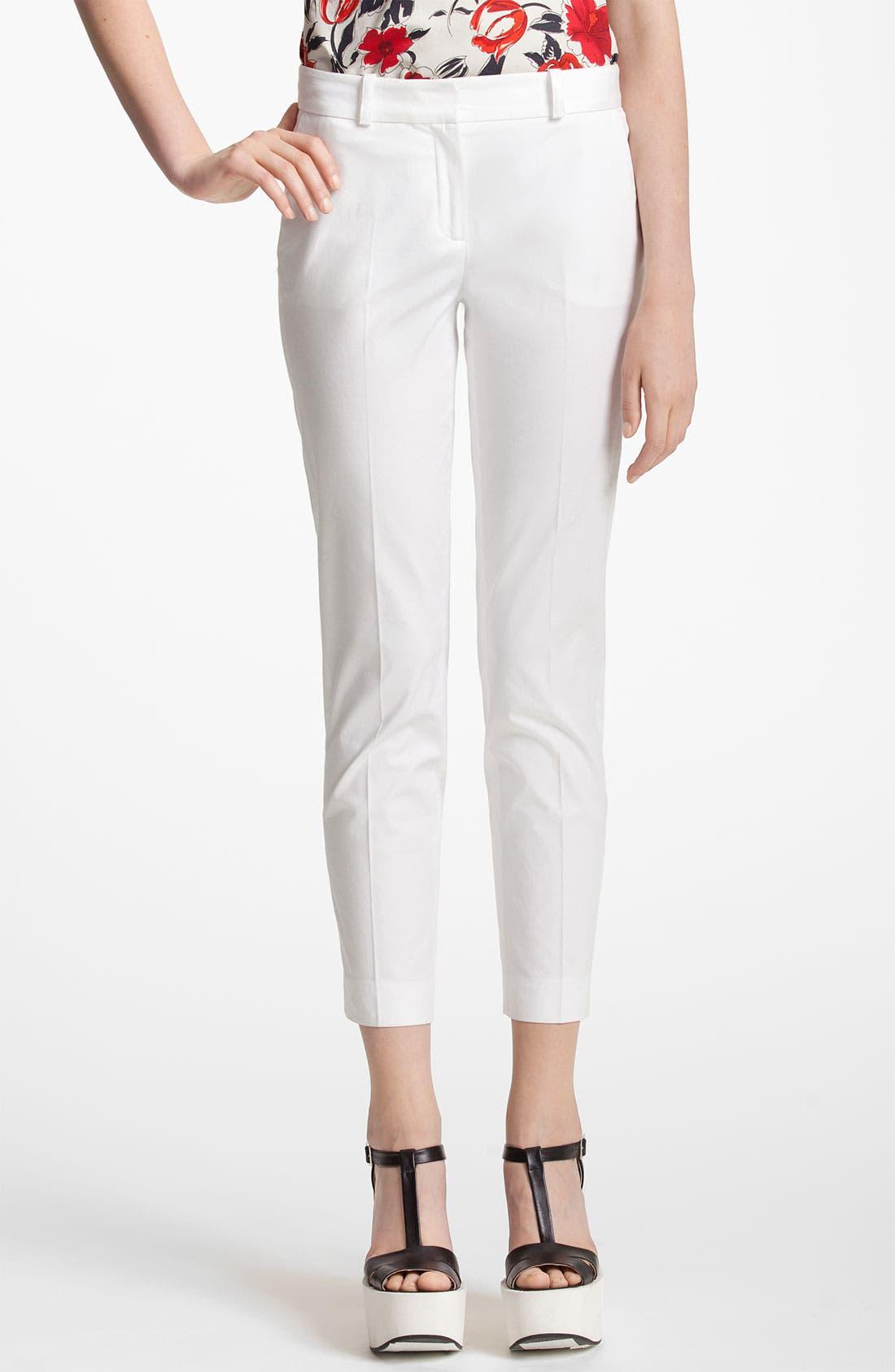 Alternate Image 1 Selected - Jil Sander Navy Straight Leg Stretch Capri Pants