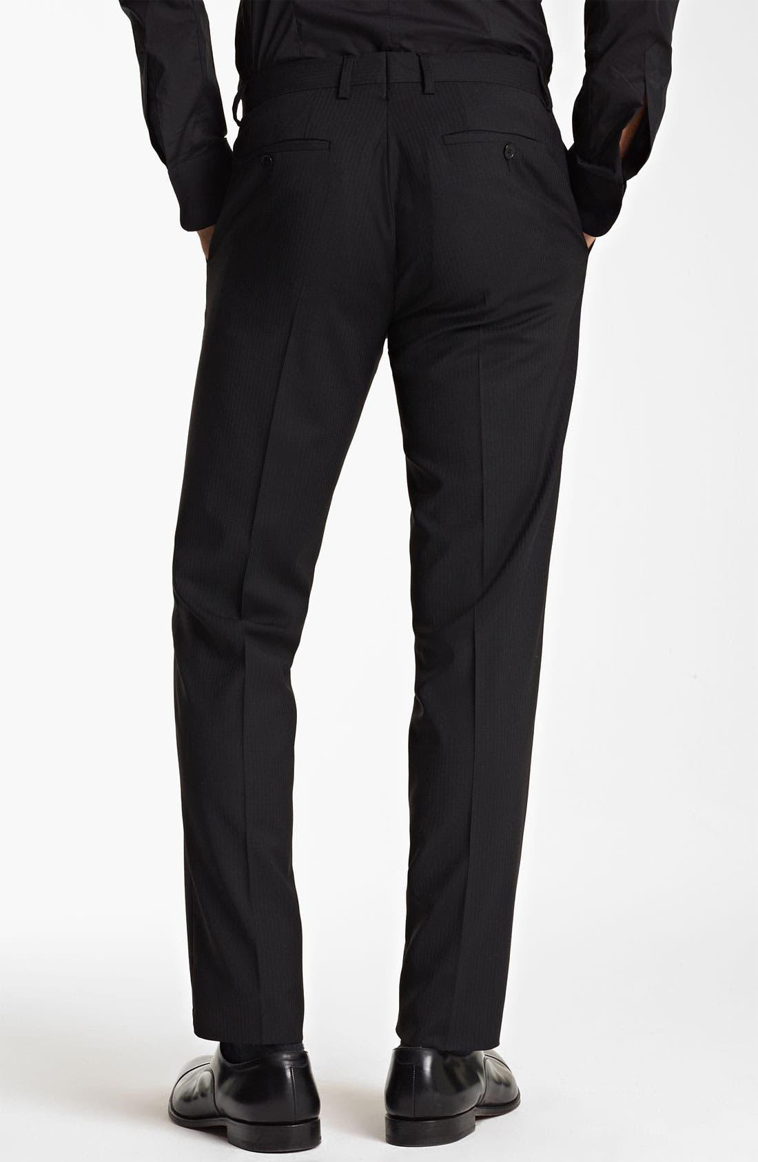Alternate Image 5  - Dolce&Gabbana Tonal Stripe Suit