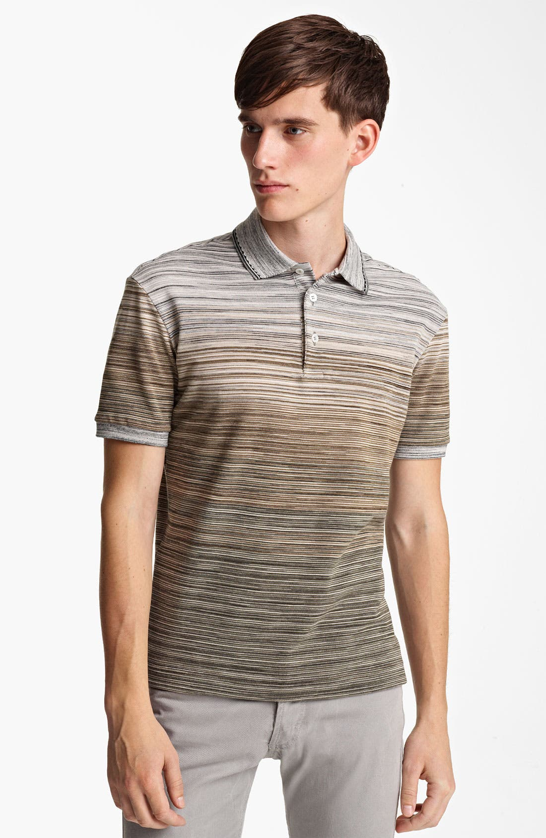 Main Image - Missoni Stripe Piqué Polo