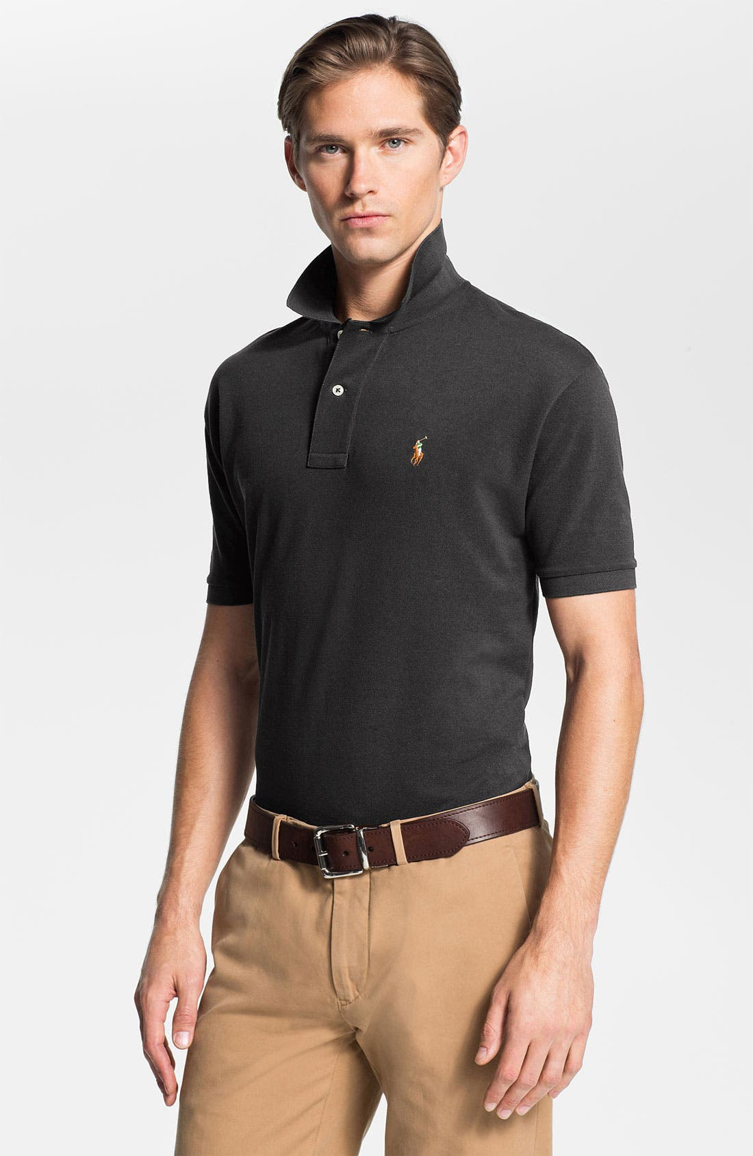 Alternate Image 1 Selected - Polo Ralph Lauren Classic Fit Mesh Polo