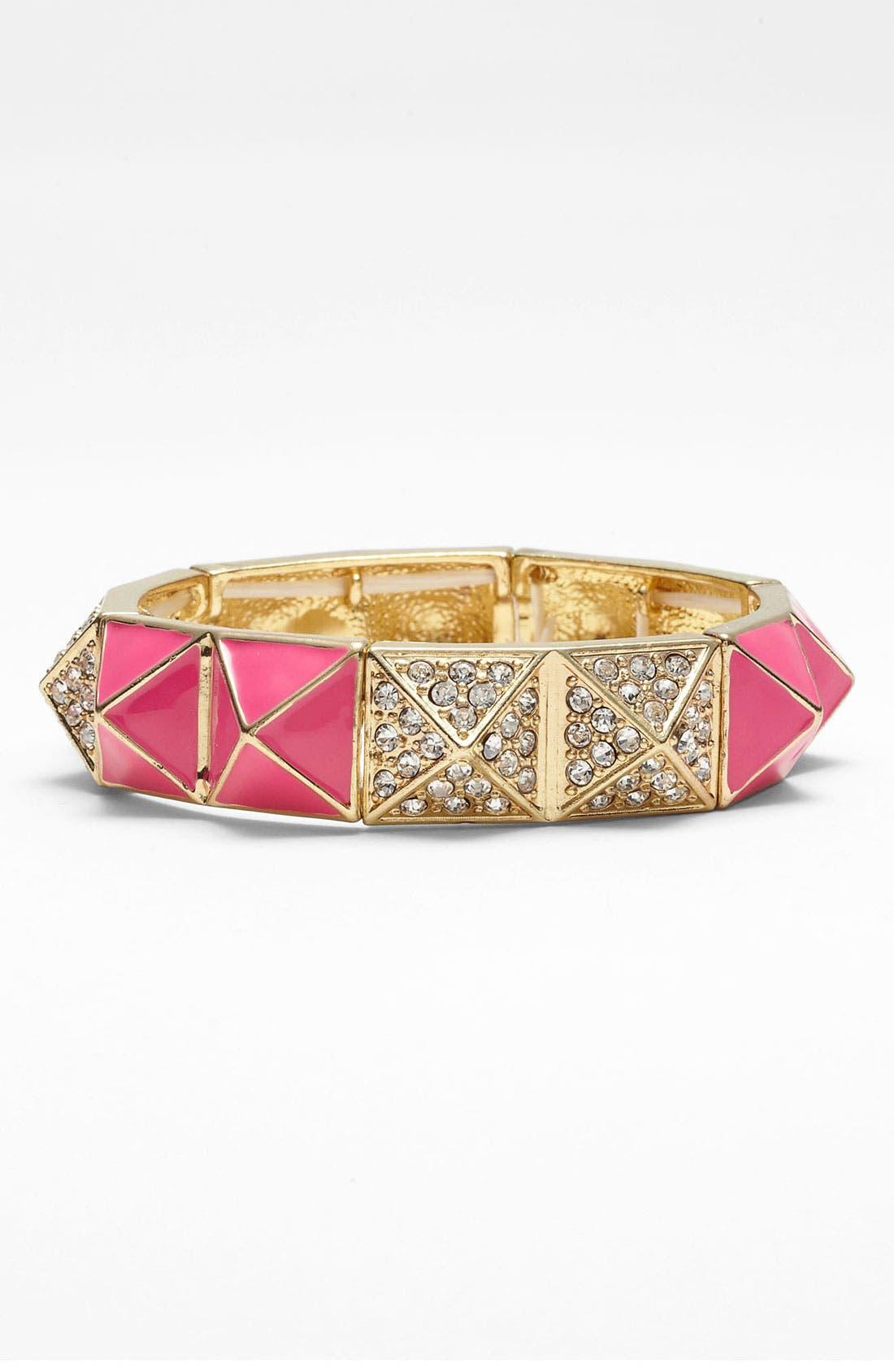 Alternate Image 1 Selected - Cara Pyramid Stretch Bracelet