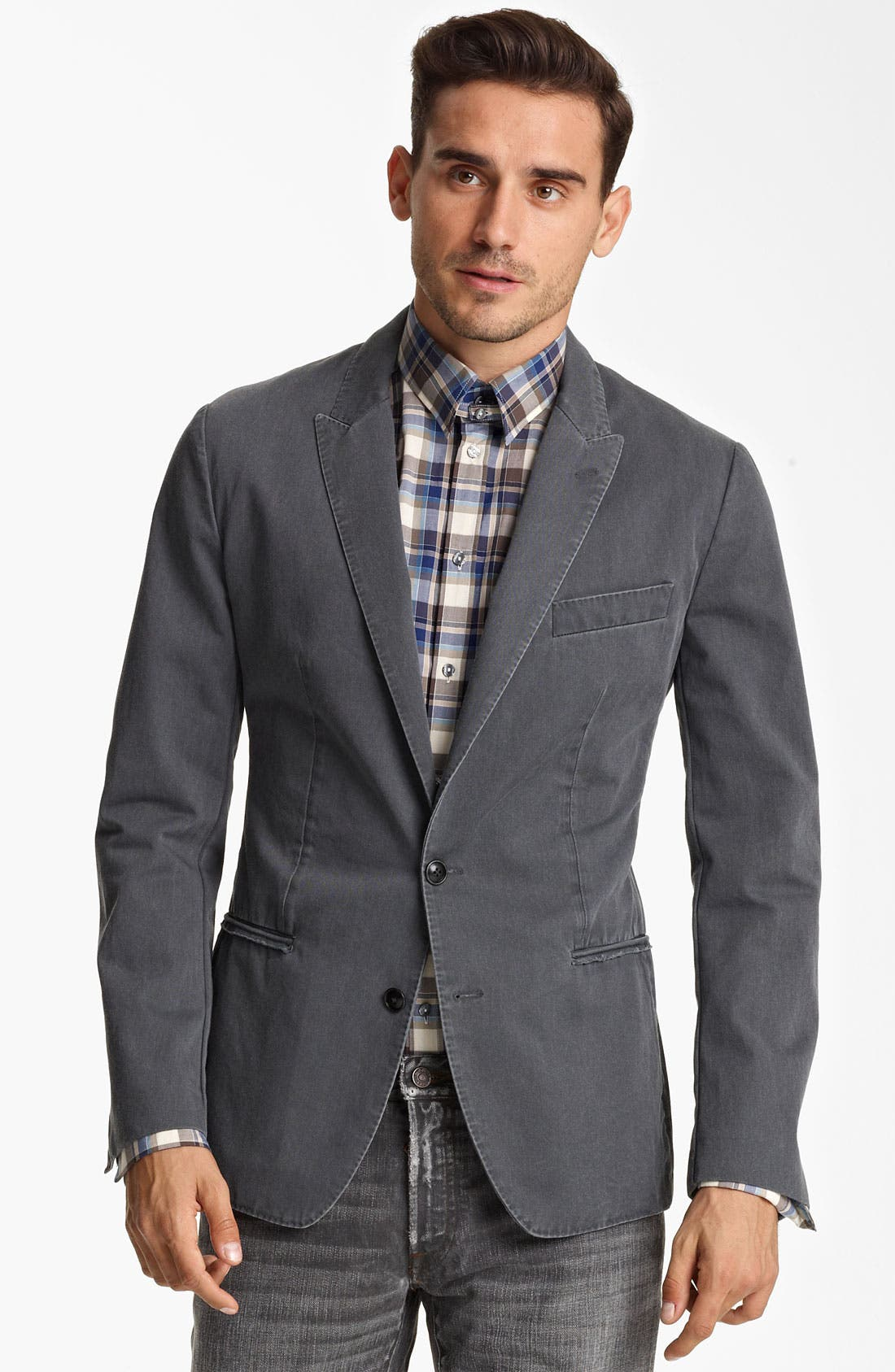 Alternate Image 1 Selected - Dolce&Gabbana Washed Cotton Blazer