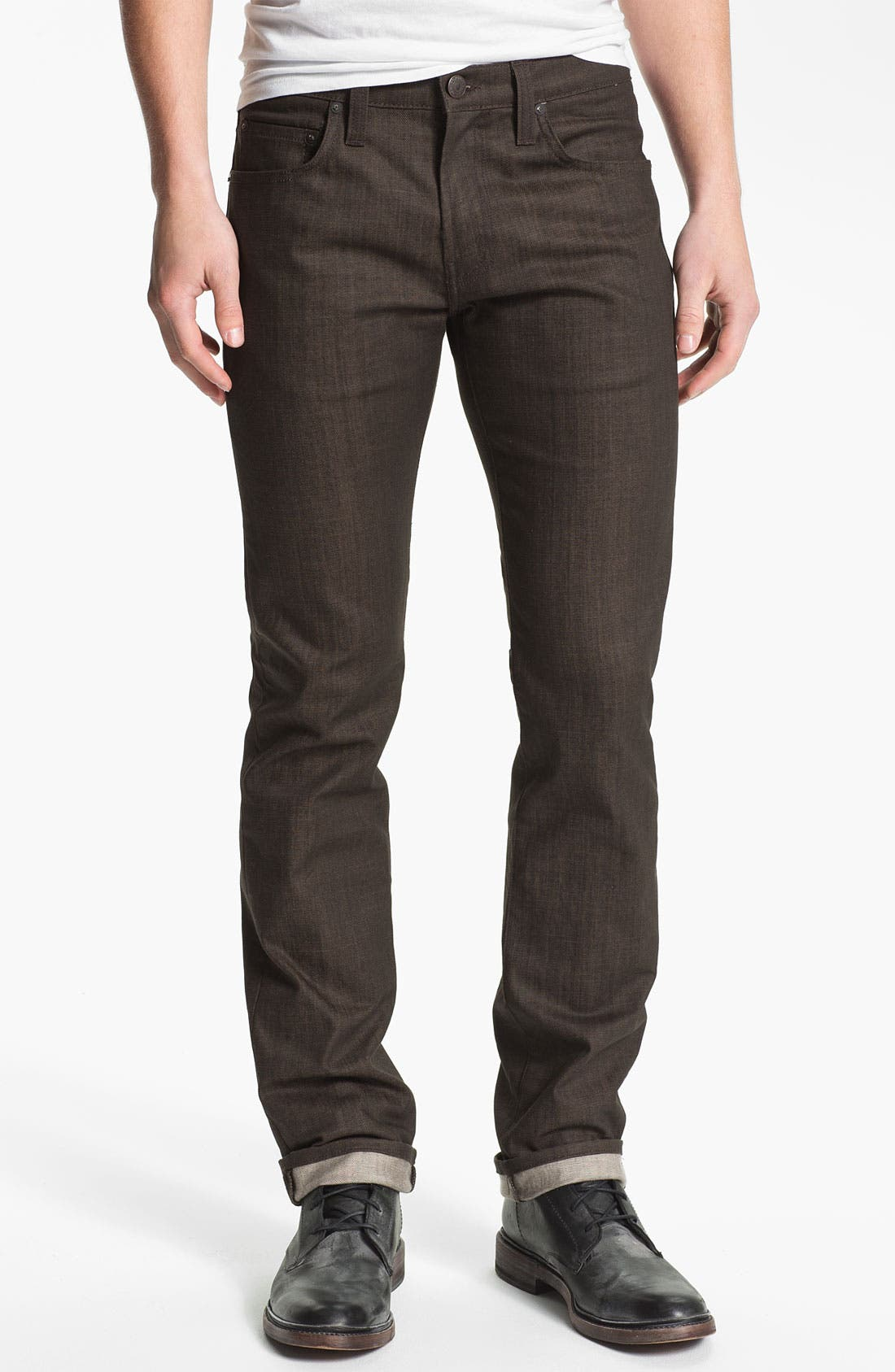 Alternate Image 2  - J Brand 'Kane' Slim Straight Leg Jeans (Flex Raw Scotch)