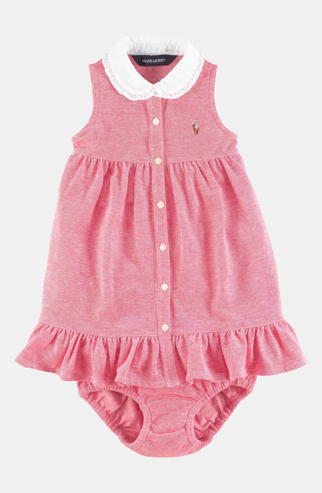 Alternate Image 1 Selected - Ralph Lauren Oxford Dress (Infant)