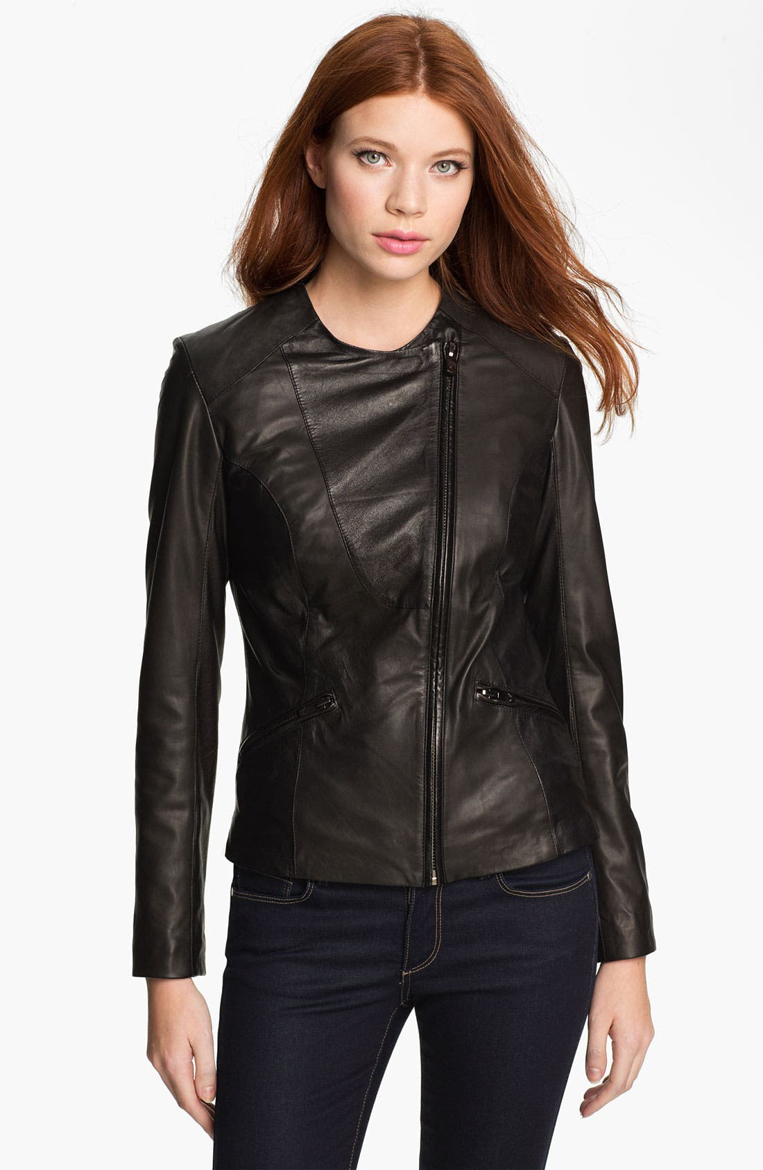 Alternate Image 2  - Bod & Christensen Leather Moto Jacket (Online Exclusive)