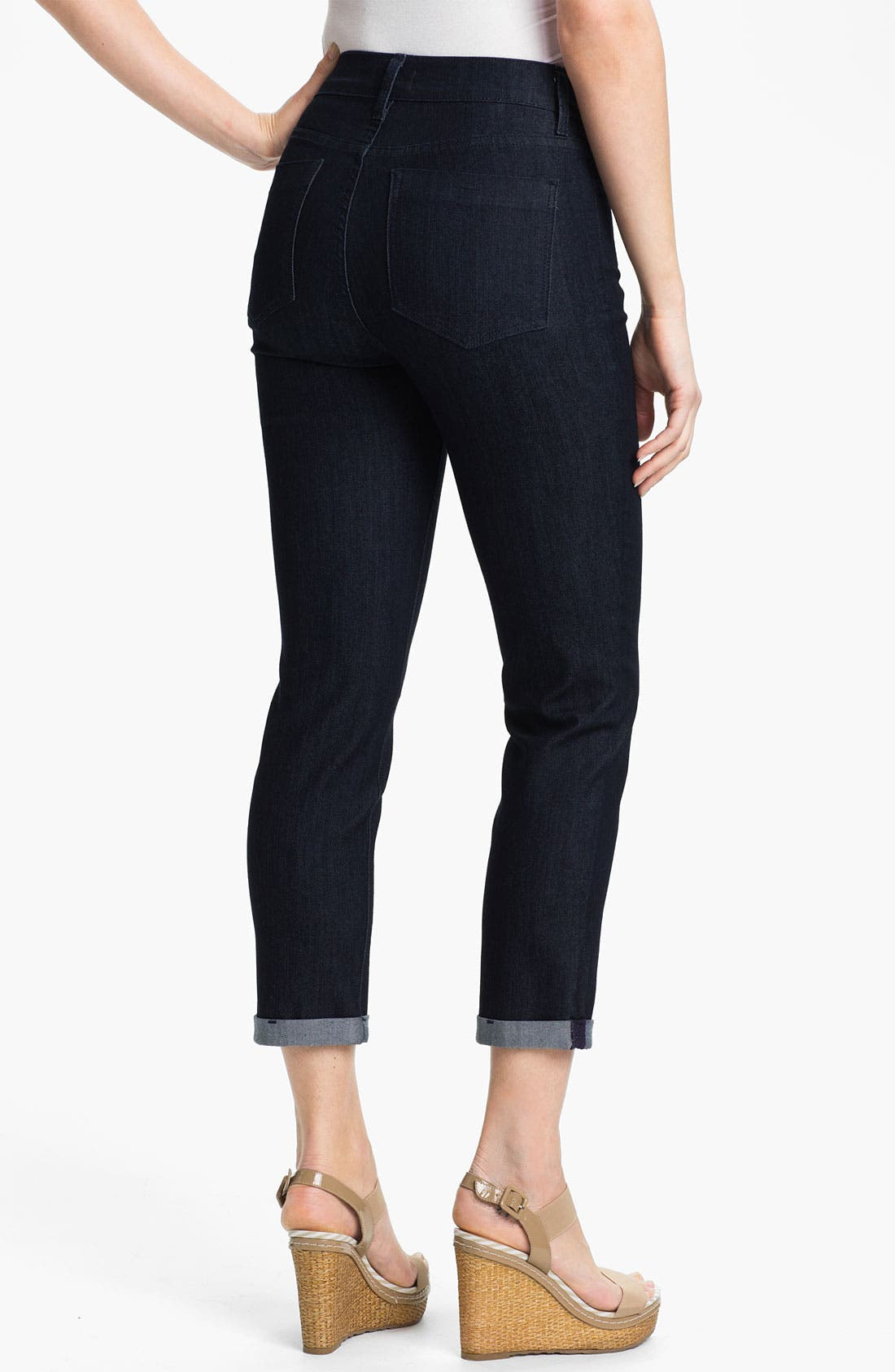 Alternate Image 2  - NYDJ 'Kendall' Cuffed Crop Stretch Jeans