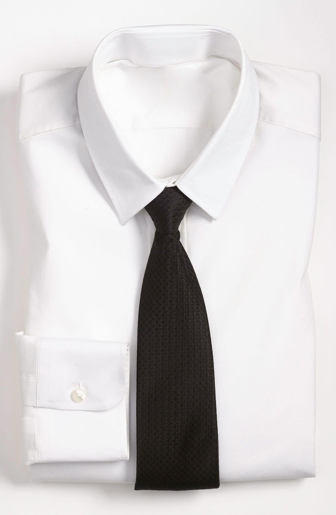 Alternate Image 3  - Yves Saint Laurent Textured Stripe Silk Woven Tie