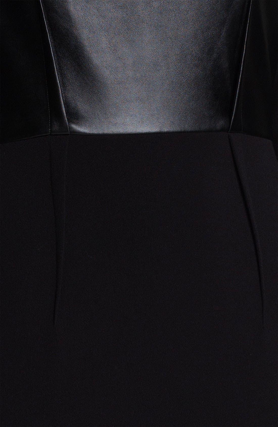 Alternate Image 3  - DKNYC Long Sleeve Mix Media Dress