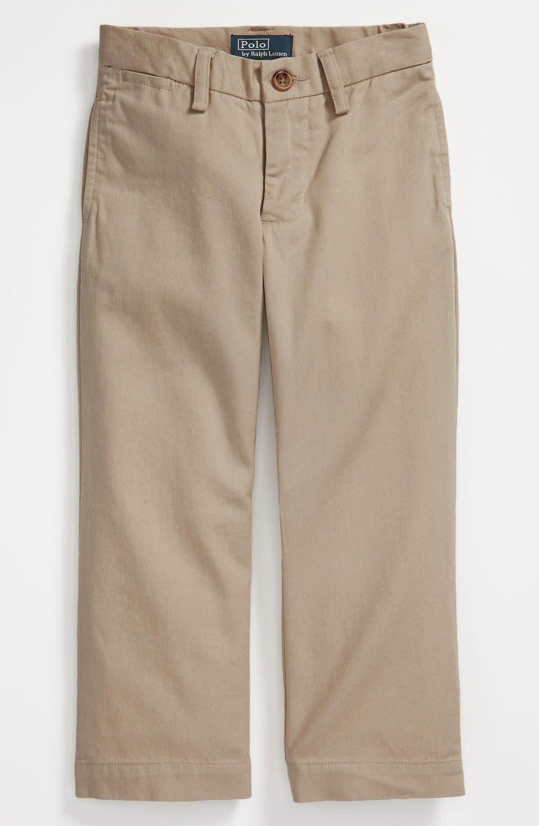 Alternate Image 1 Selected - Ralph Lauren Flat Front Pants (Toddler)