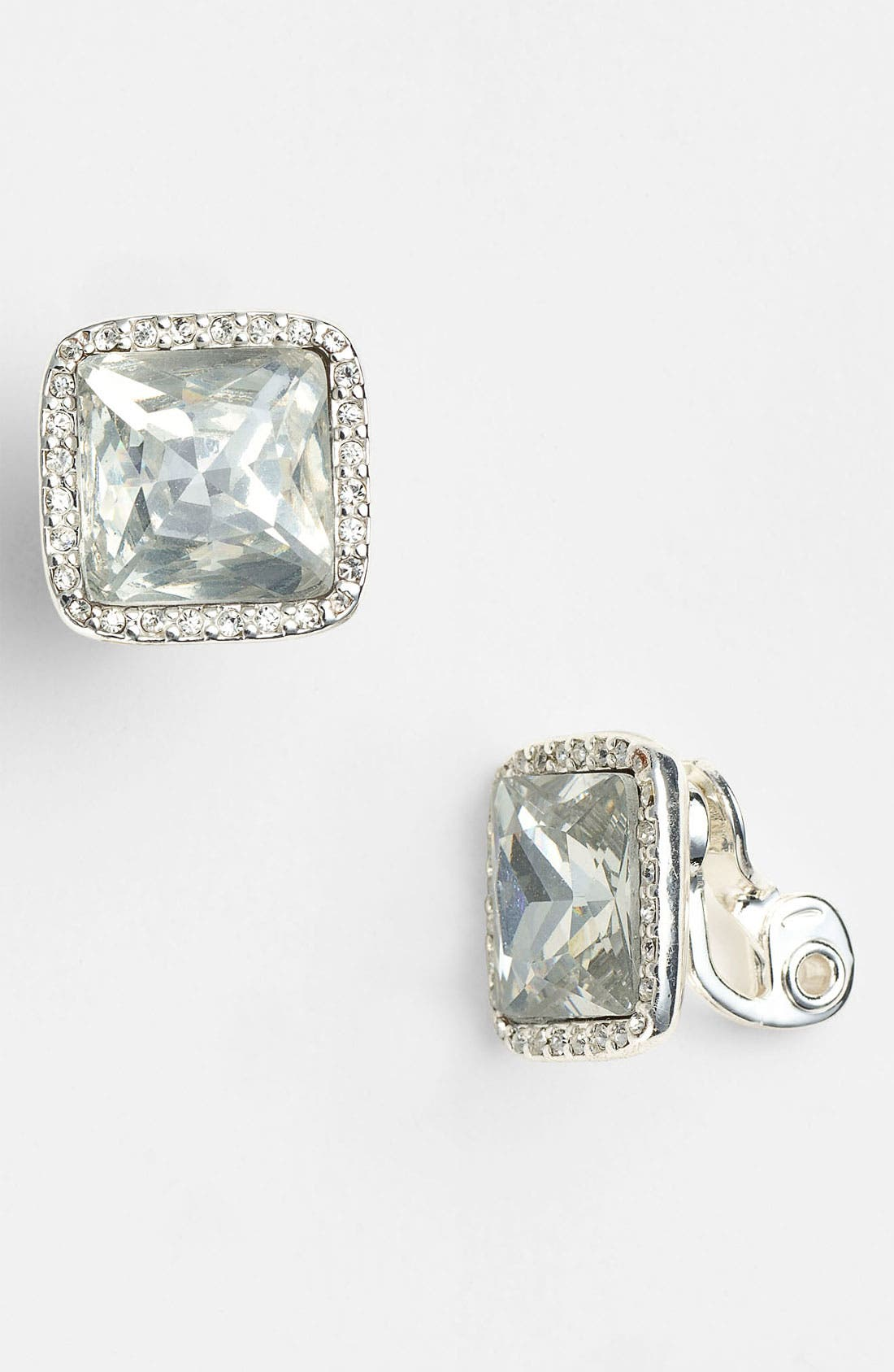 Alternate Image 1 Selected - Anne Klein Stud Clip Earrings