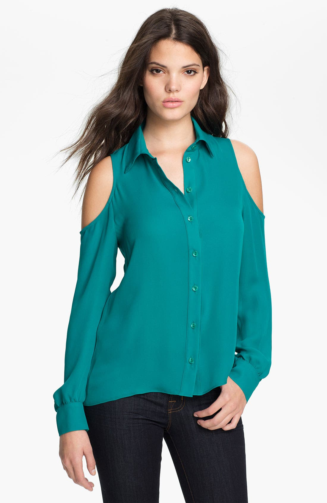 Alternate Image 1 Selected - Parker Cutout Silk Blouse