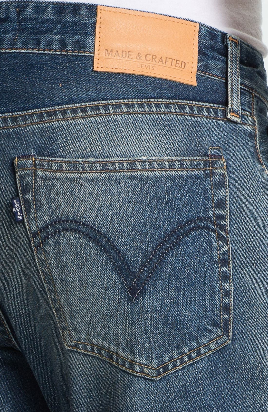 Alternate Image 4  - Levi's® Made & Crafted™ 'Ruler' Straight Leg Jeans (Sparkling)
