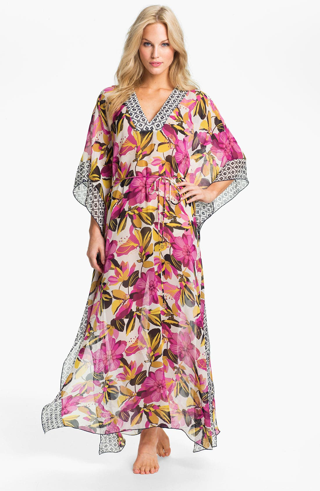 Main Image - Tory Burch 'Catarina' Silk Caftan Cover-Up