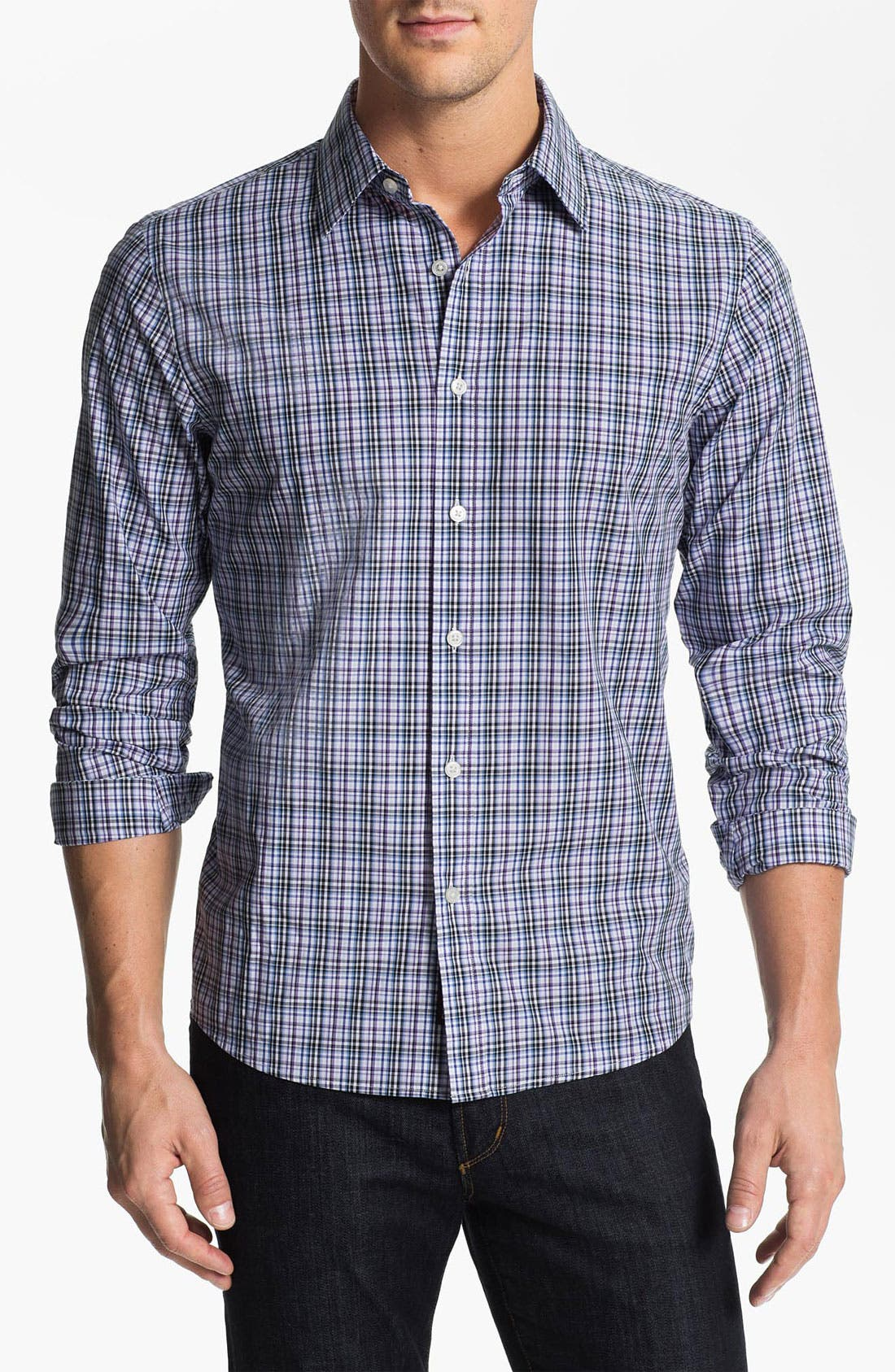 Alternate Image 1 Selected - Michael Kors 'Morgan Check' Sport Shirt