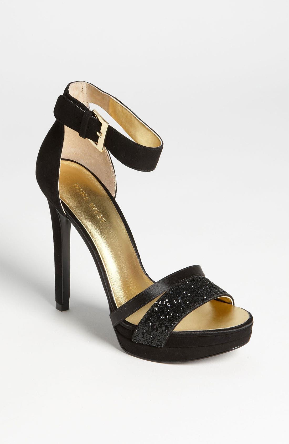 'Firstmet' Sandal,                         Main,                         color, Black Multi