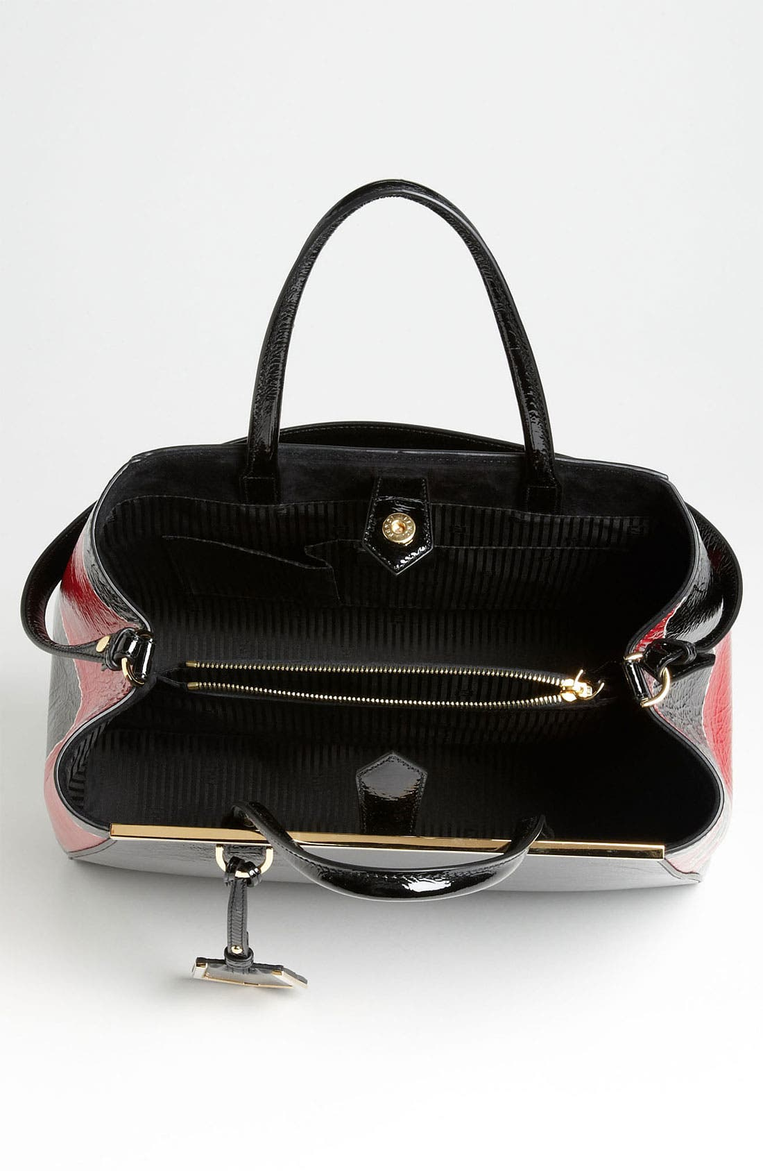 Alternate Image 3  - Fendi '2Jours - Medium' Patent Leather Shopper