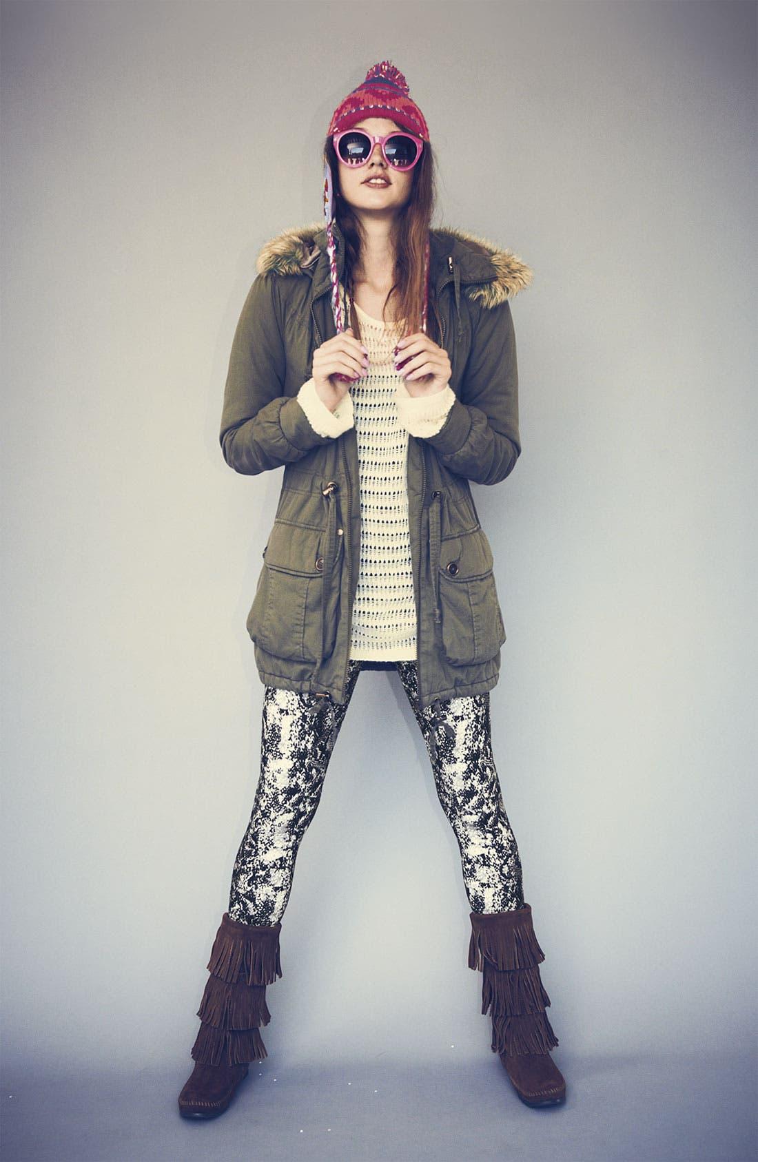 Main Image - Sashimi Anorak, Frenchi® Sweater & Mimi Chica Leggings