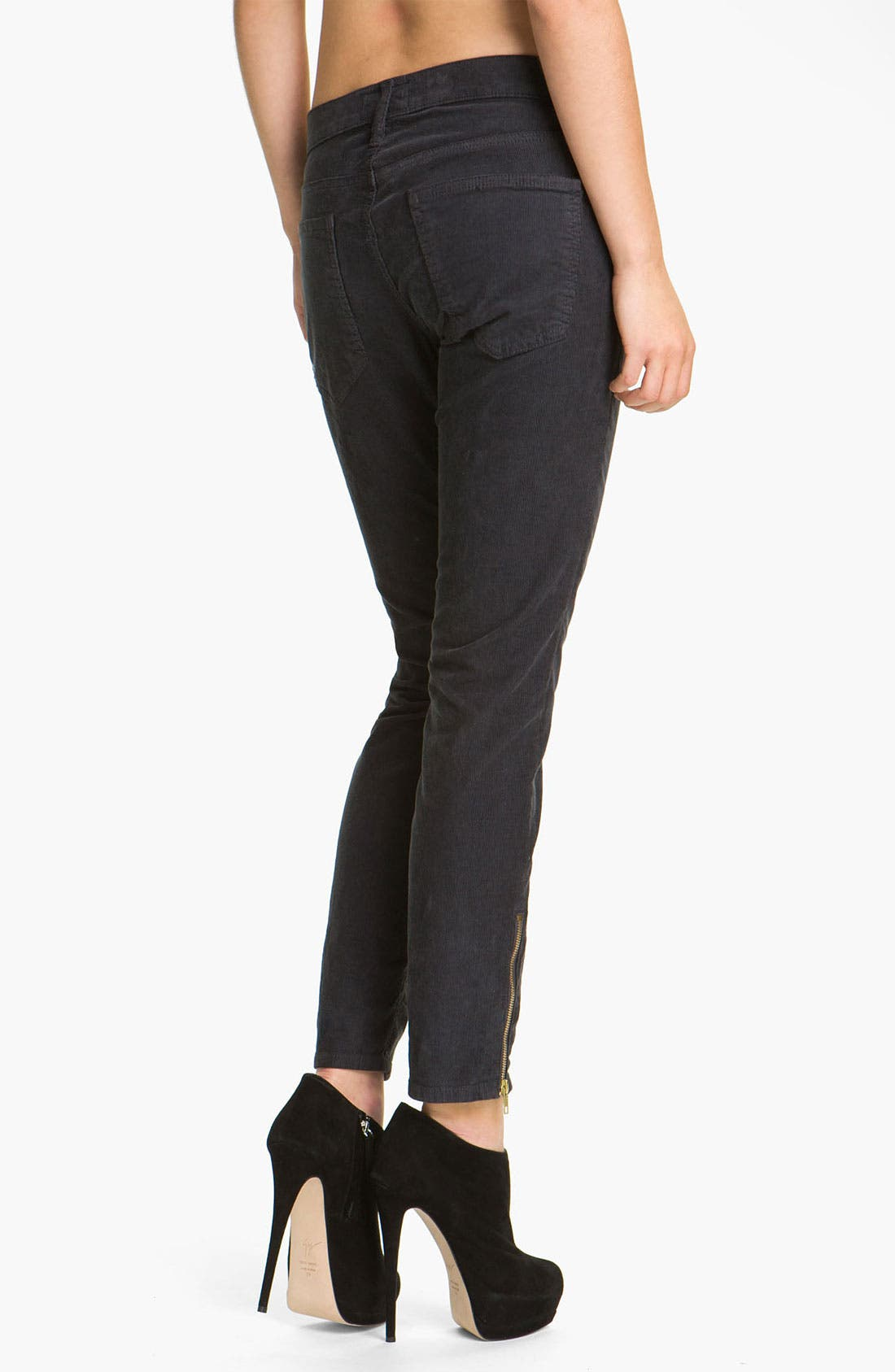 Alternate Image 2  - Current/Elliott 'The Stiletto' Moto Skinny Jeans (Shadow)