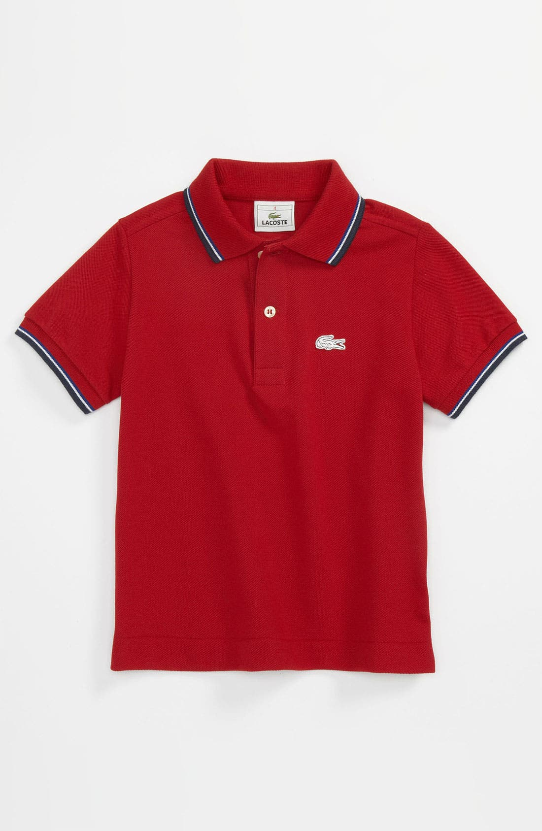 Alternate Image 1 Selected - Lacoste Piqué Knit Polo Shirt (Toddler)