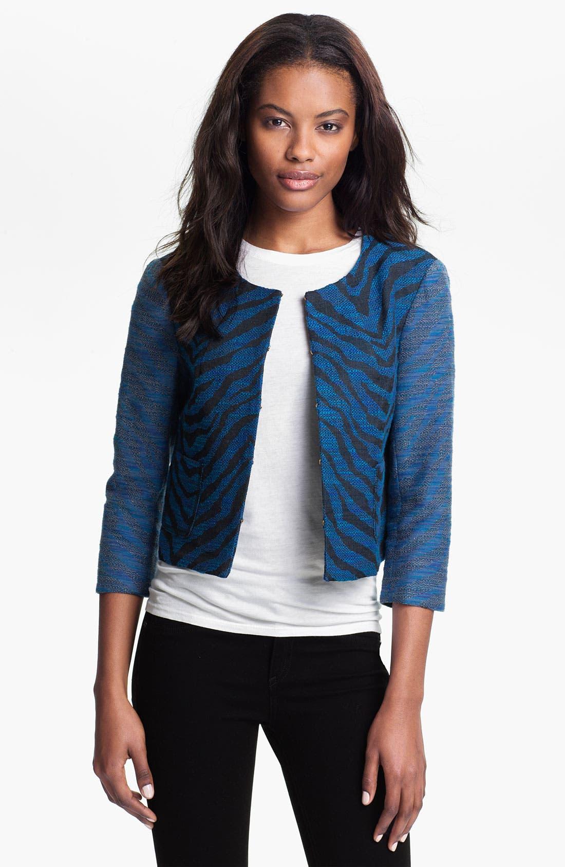 Main Image - Gryphon Zebra Jacquard Jacket