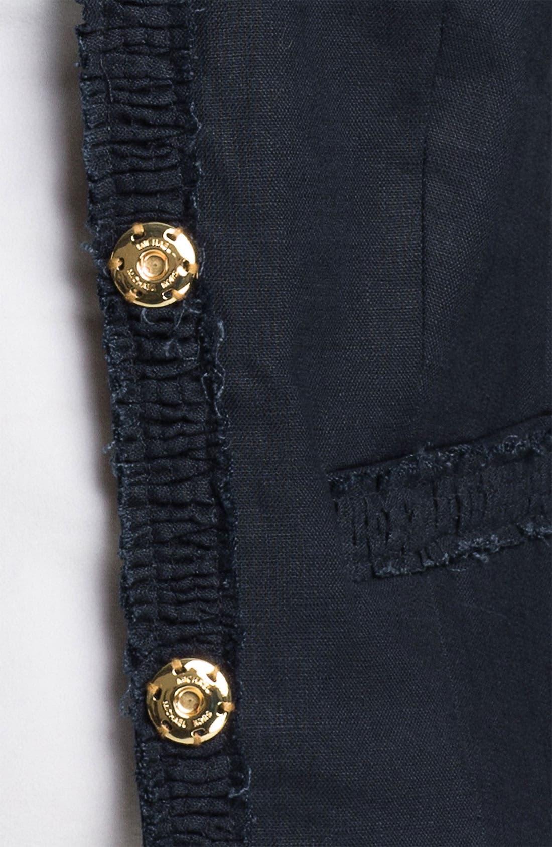 Alternate Image 3  - MICHAEL Michael Kors Linen Jacket